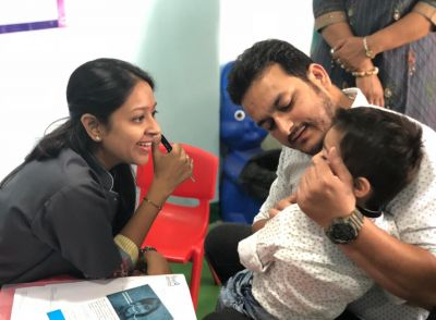 Dental Check Up at Little Millennium School, Noida